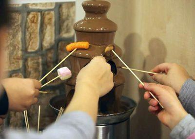 kézműves csoki csokoládé szökőkút 14